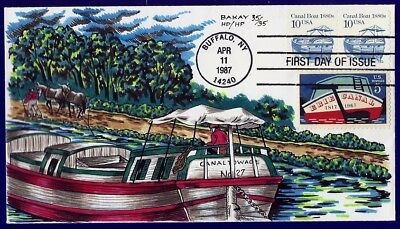 BAKAY Hand Painted : 1987 Canal Boat of 1880s Cb w/1967 Erie Canal -Only 35 Made