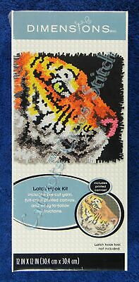 "Latch Hook Kit Tiger Profile 12"" x 12"" Dimensions Printed Canvas"