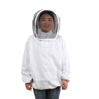Beekeeping Jacket Pull Over Protective Veil Bee Keeping Suit Hat White