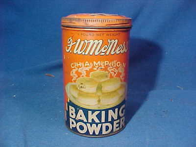 1930s F.W.McNESS Champion BAKING POWDER 1lb TIN