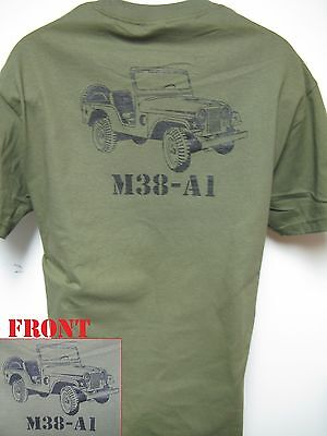 Willys Jeep T-Shirt/ Military Vehicle/ M38-A1 T-Shirt/ New