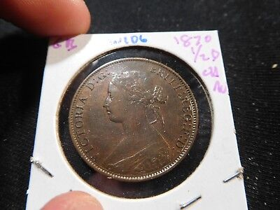 W106 Great Britain 1870 1/2 Penny Choice AU