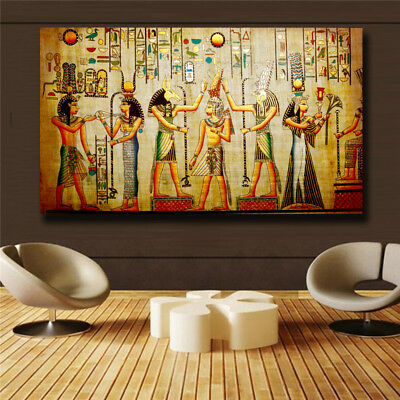 """Ancient Egypt Draw""""The gods """" HD Print on Canvas Huge Wall picture (31x55)"""