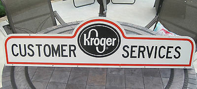 """Kroger Customer Service Sign 48 Inches x 8 Inches Kroger 12 """" tall Double Sided"""