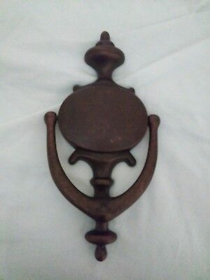 vintage bronze  door knocker.sold by restoration hardware.