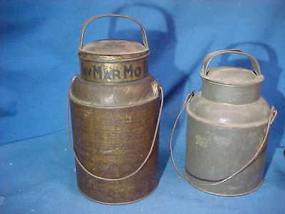 2-19thc MILK CAN Shape COFFEE TINS-JavMarMo Blend EDWIN GILLES Co