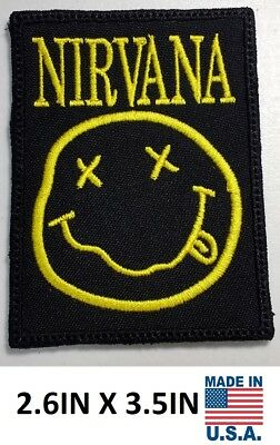 **LOVE IT OR ITS FREE** NIRVANA Music Rock Embroidered patch, Iron on