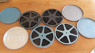 """YOUR CHOICE--1 Pressed Steel/Metal Canister-7"""" reel/8mm 1950s-1960s Home Movie"""