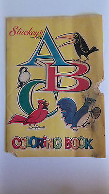 Vtg Stuckey's Stuckeys ABC Coloring Book Pet Inc 1960s POOR COND, MUSTY- MOUSEY