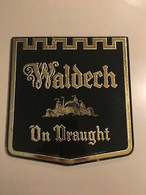 Theo Hamm Brewing Co HAMM'S WALDECH  Reverse On Glass Beer Sign.