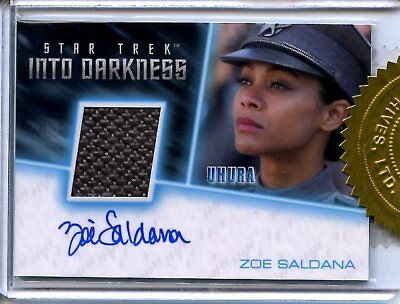Star Trek Beyond INCENTIVE COSTUME RELIC / AUTOGRAPH CARD of ZOE SALDANA Uhura