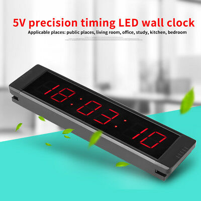 Programmable Remote Crossfit Interval Timer Wall Clock for Fitness Training el