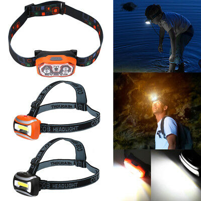 Headlight USB Rechargeable Headlamp Light Head Torch Running Camping Fishing SA