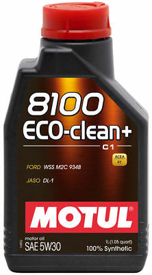 Motul 8100 Eco-Clean+ 5W-30 100% Synthetic Engine Oil 1L