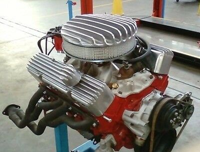 AussieSpeed Black SBC Huge Fin HOT ROD VALVE COVERS small block finned 350 stree