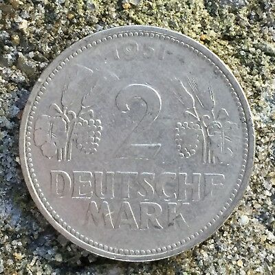 Germany 2 Deutsche Mark DM 1951 F (Stuttgart) - Nice F