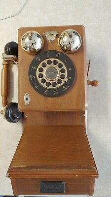 Vintage Replica 1921 THOMAS COLLECTOR'S EDITION WOOD COUNTRY TELEPHONE