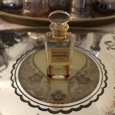 Vintage Chanel Bois Des Iles Collectable Perfume Extrait Bottle Paris France