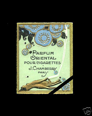 Vintage French Perfume Bottle Label:  Art Deco1910 Oriental J. Chamberry Paris
