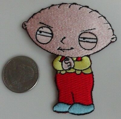 Stewie - Family Guy TV Show Cartoon Iron On Patch New, Rare, 2004