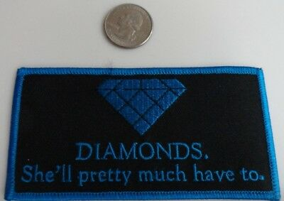 "Family Guy ""DIAMONDS..."" TV Show Cartoon Iron On Patch New, Rare 2005"
