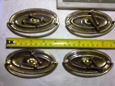 ornate piano lift handles x 2, antique