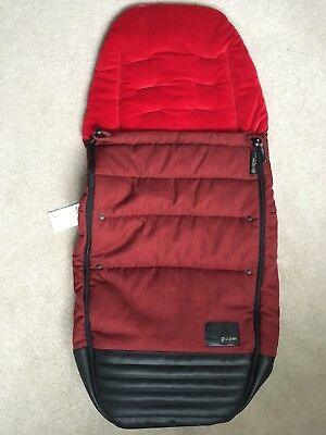 Cybex Priam Footmuff In Hot & Spicy Red Denim Footmuff - New With Tags