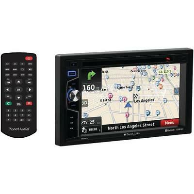 Planet Audio 6.2& Double-din In-dash Navigation Touchscreen Dvd Receiver