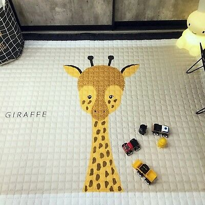 Thick Cotton Baby Crawling Mat Cute Giraffe Play Carpet Children Bedroom ... New