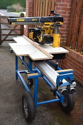 Dewalt Dw720 Radial Arm Compound Pull Saw With Mobile Table