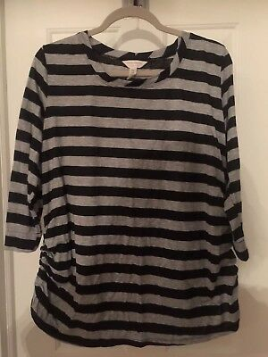 New without tags Plus Size 2X Three Seasons Maternity 3/4 striped shirt from JCP