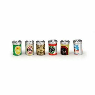 Miniature Dollhouse Fairy Garden Beer Cans - Set of Six - Buy 3 save $5