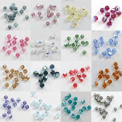 1b600c5f0 GENUINE SWAROVSKI #5000 4mm ROUND CRYSTAL BEAD ~Many Color ~ AB / 2X ...