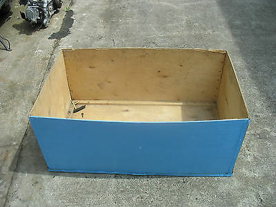 10 x LARGE WOODEN TEA CHESTS BOXES CRATES STORAGE BINS - 96 x 41 x 56 cm - USED