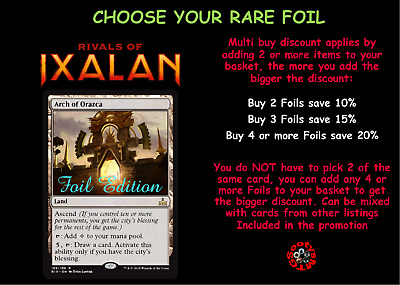 MTG Rivals of Ixalan RIX Choose your Rare Foil - New - Buy 2 or more Save 10%