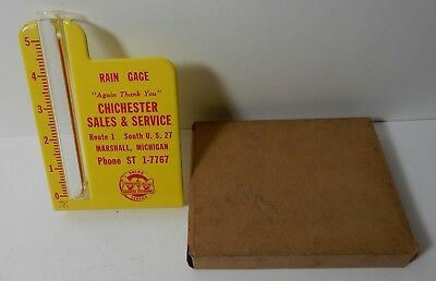Old Nos Yellow Minneapolis Moline Tractor Metal Rain Gauge Chichchester Marshall
