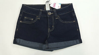 NWT Justice Kids Girls Size 8 or 16 Dark Wash Rolled Hem Denim Jean Shorts