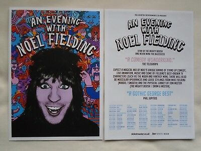 NOEL FIELDING/Mighty Boosh Live event An Evening with 2014 UK Tour Promo flyers