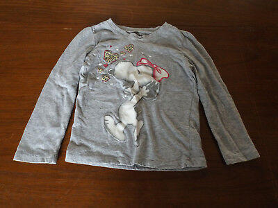"""Toddler Girl's size 4T """"Snoopy/Belle"""" Long Sleeve Shirt - EUC"""