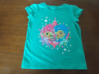 """Toddler Girl's size 5T Nickelodeon """"Shimmer and Shine"""" T-Shirt - EUC"""