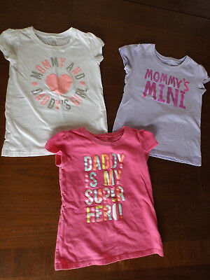 """Lot of 3 Toddler Girl's 5T """"The Children's Place"""" Short Sleeve T-Shirts - EUC"""