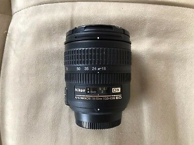 Nikon AF-S DX Nikkor 18-70mm Zoom f3.5-4.5 G ED SWM IF Camera Lens