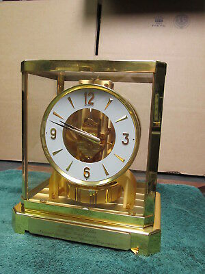 LeCoultre Atmos Clock 528-8, VERY NICE, 1 OWNER 25 Yr National Distillers Award