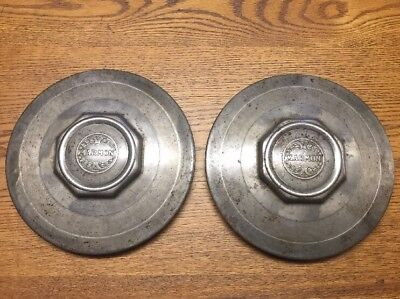 Pair Of Vintage Late 1920s Early 1930s Marmon 8-1/4 Inch Hubcap