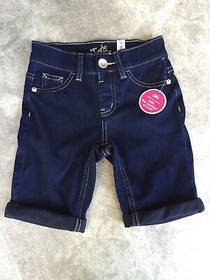 NWT Girls Size 8 Slim JUSTICE Denim Shorts - Longer Leg Length