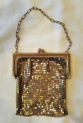 Vintage Gold Mesh Purse Small 1920's Style