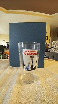 "Guinness Vintage Style Pub Beer Pint Glass ""My Goodness, My Guiness"" L@@K"
