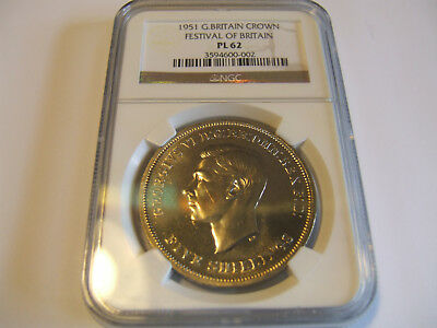 1951 G. Britain Crown Festival Of Britain Ngc Pl62