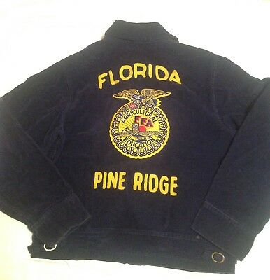 Vintage Future Farmers of America official blue corduroy jacket size 34