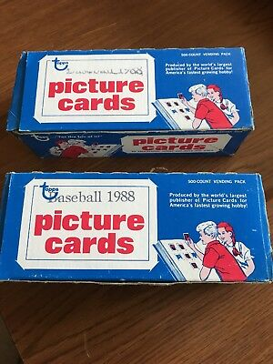 1988 Topps Baseball Vending Box 500 count Picture Cards